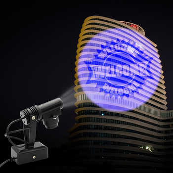 Welcome Projection Spot light 110V / 220V Bar Hotel Logo Advertising lamps spotlight US/EU Plug Rotating Lighting Custom Design - DISCOUNT ITEM  10 OFF Lights & Lighting