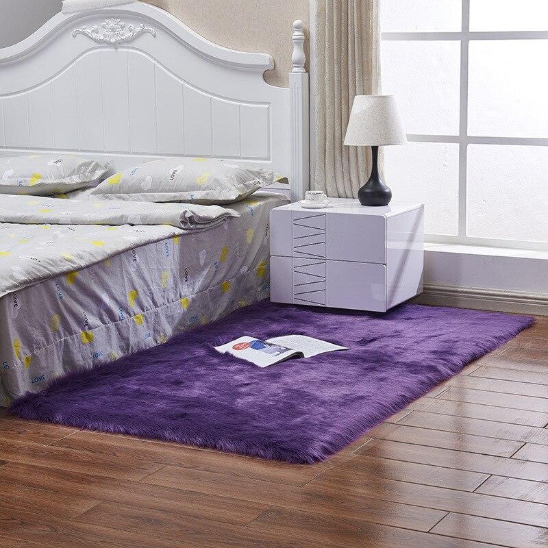 100*180 см мягкий искусственный коврик из овчины покрытие стула коврик для спальни искусственная шерсть Теплый Ковер с длинным ворсом сиденье Textil меховые коврики - Цвет: 06