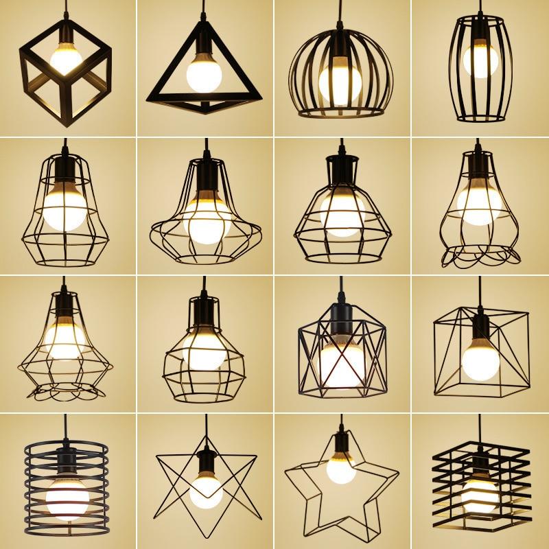 Lights & Lighting Pendant Lights Industrial Pendant Light Bird Cage Pendant Lamp Crystal Nordic Hanglamp Vintage Loft Lamp Kitchen Living Room Luminaire Suspendu