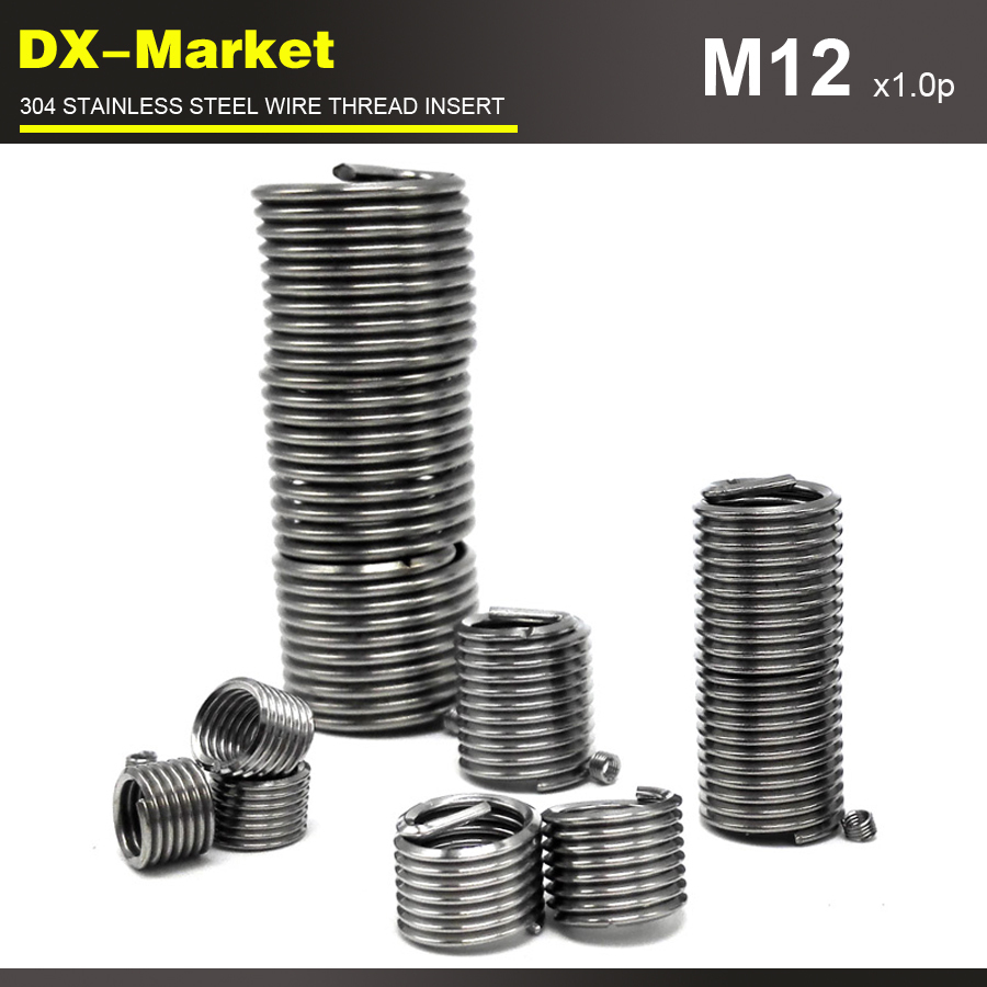 ̀ •́ m12*2.5D *1.0P , 30pcs , stainless steel through threaded ...