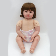 20″ NPK Baby Reborn Doll With Giraffe Doll Silicone Vinyl Adorable Lifelike Toddler Baby Bonecas Girl Kid Bebe Reborn Dolls