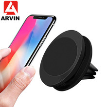 Arvin Magnetic Car Phone Holder For iPhone X XR XS 8 Samsung S8 Air Vent Mount Universal Multifunction Mobile Stand