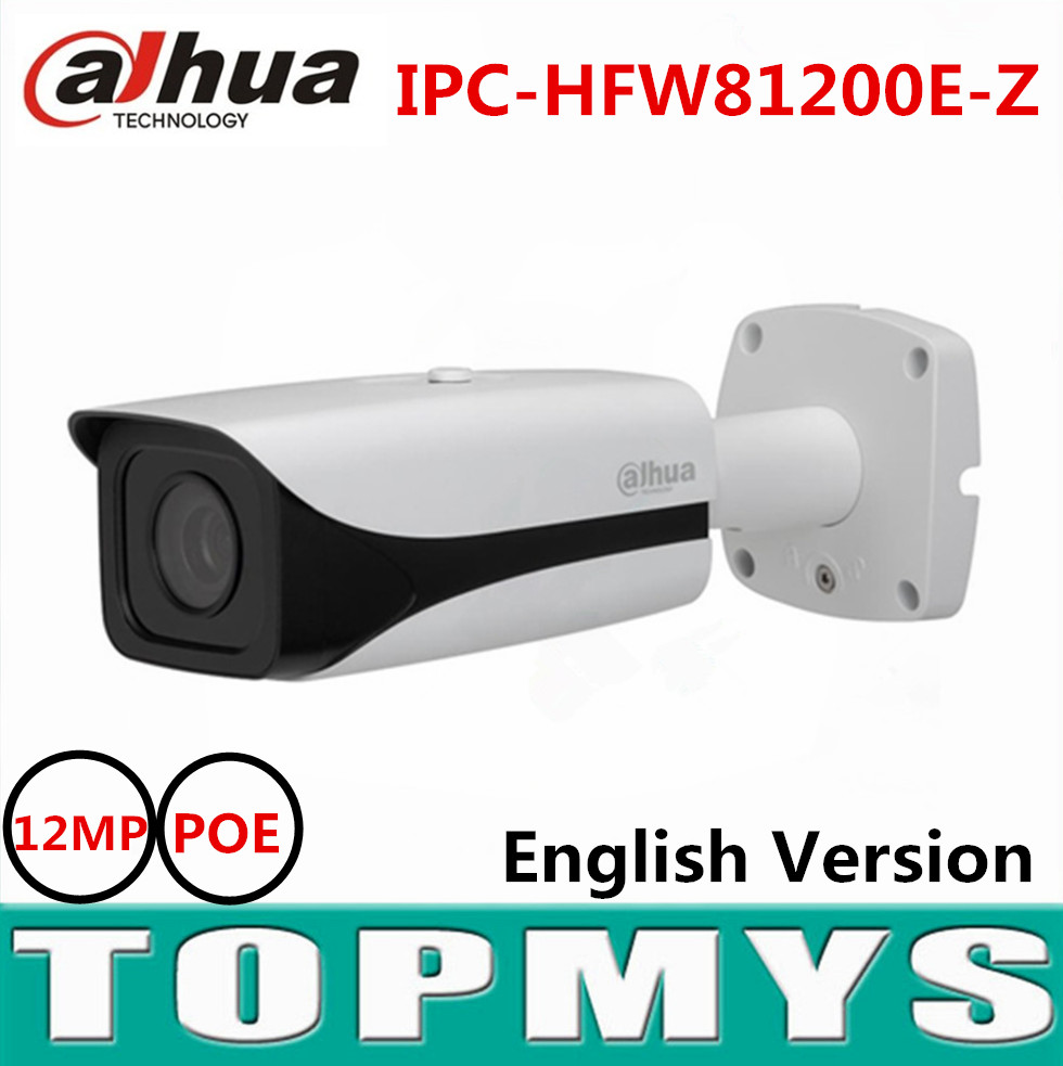 Dahua 4K ip camera Ultra HD Super 12MP IP Camera IR 50 meters night vision IPC-HFW81200E-Z motorized lens 4.1mm to 16.4mm dahua motorized lens 2 7mm to 12mm ip camera ipc hfw2320r zs 3mp poe cctv ip camera ir 30m day night vision security ip camera