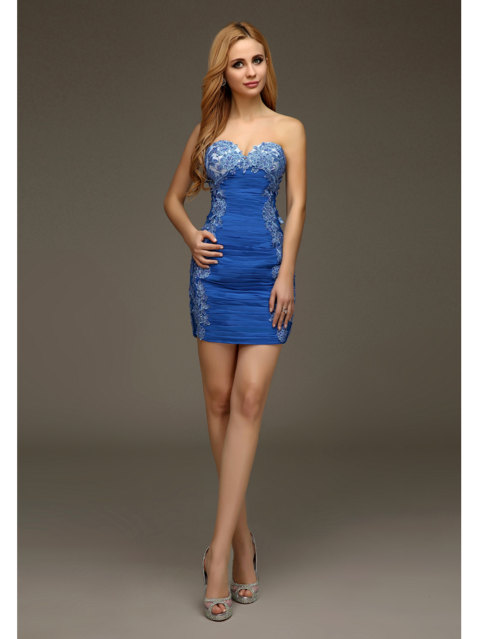 One Shoulder Fitted Short Formal Dresses