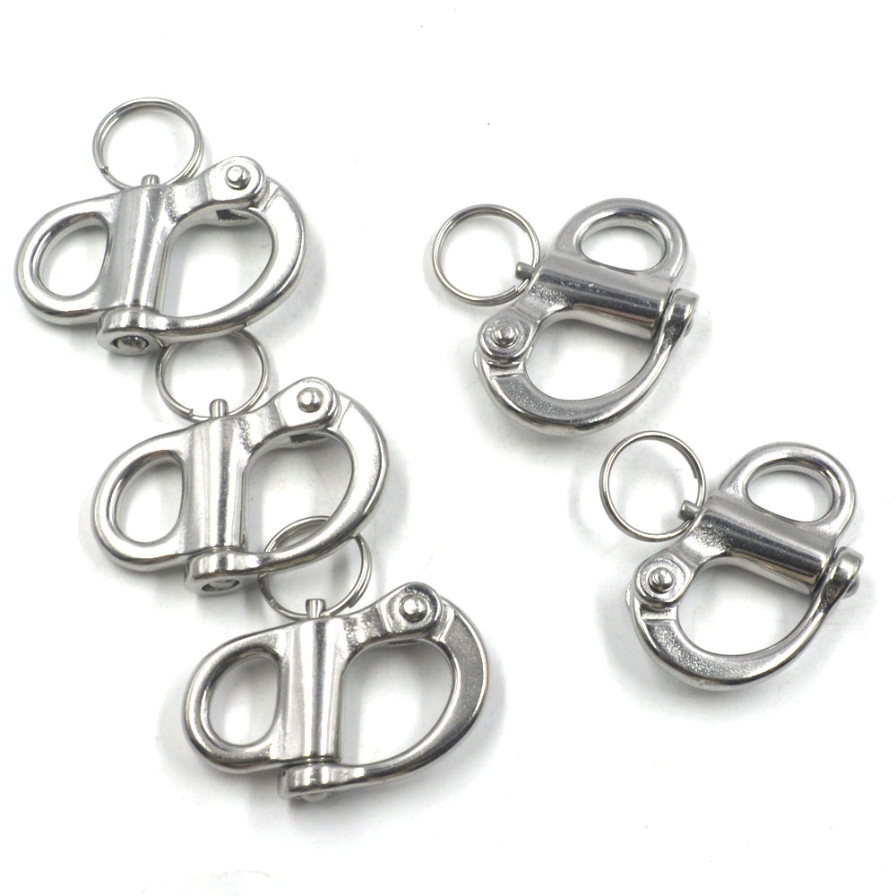 304 Stainless Steel 50mm Hard Silver Rigging Sailing Fixed Bail Snap Shackle, a pack of 5304 Stainless Steel 50mm Hard Silver Rigging Sailing Fixed Bail Snap Shackle, a pack of 5