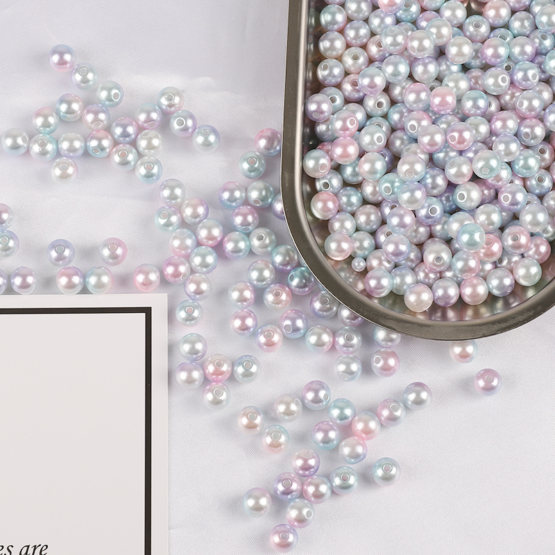 10mm Glass faux Pearls Mauve jewellery making purple 40 round pearl beads