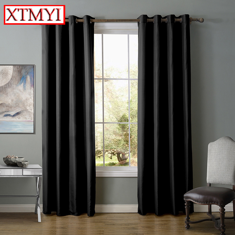 europe solid blackout curtains for bedroom purple beige. Black Bedroom Furniture Sets. Home Design Ideas
