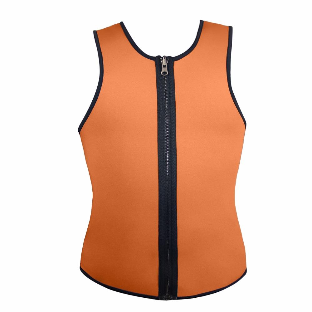 Men Latex Ultra Sweat Hot Waist Trainer Body Shaper Slimming Fit Vest Neoprene Front Zipper Fat Borning Control Top Shapewear (12)