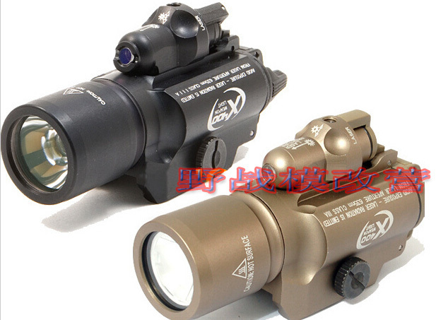 High Quality S-F X400 LED Tactical Flashlight+red Laser Weapon Lights-Free shipp 100mw650nm cross red laser head high power red positioning marking instrument high quality