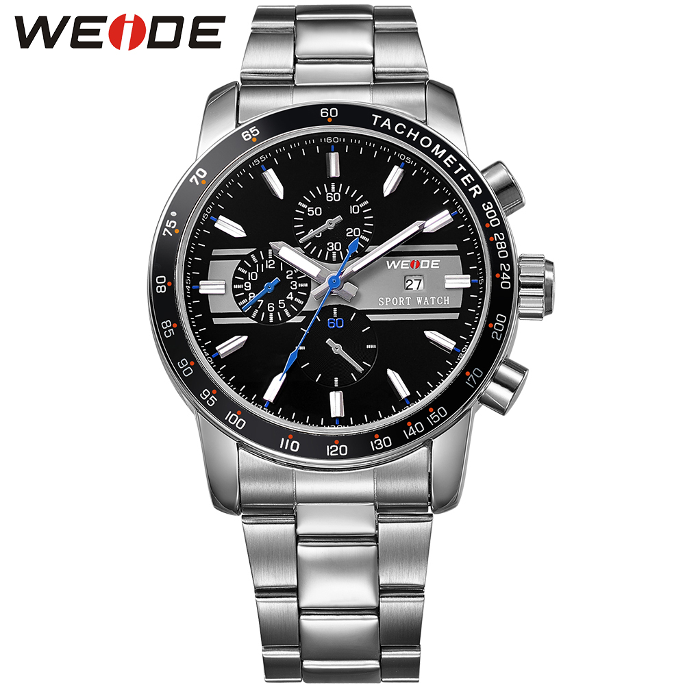 WEIDE Famous Brand Sport Watch Men Fashion Casual Watches Quartz Stainless Steel Fashion New Military Relogio Masculino WH3313