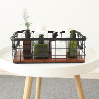 1 PCS Nordic double handle grid storage basket desktop sundries newspaper cosmetics storage basket kitchen supplies AP10231842