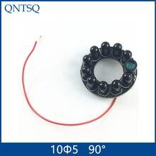 90 градусов Лампа, инфракрасный 10x5 IR светодиодный щит для камер видеонаблюдения ночного видения,(большой F16-F30mm