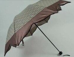 Liście klonu parasol  leopard drukowane tkaniny  8 k żeber  trzykrotnie  ręcznie otwarte parasole  imitacja raju parasol. segmentu b