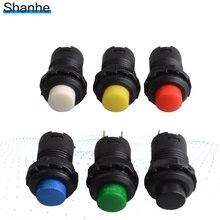 6 шт. 12 мм Блокировка выключения кнопочный переключатель поддерживается фиксированные кнопочные переключатели мгновенный