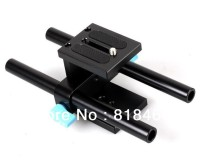 100% New 15mm Rail Rod Support System Baseplate Mount For DSLR Follow Focus Rig 5D2 5D3Free Shipping