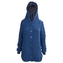 BFYL Fashion Womens Cardigan Knit Hoodie Mid-long Sweater Hooded Sweatshirt Jacket
