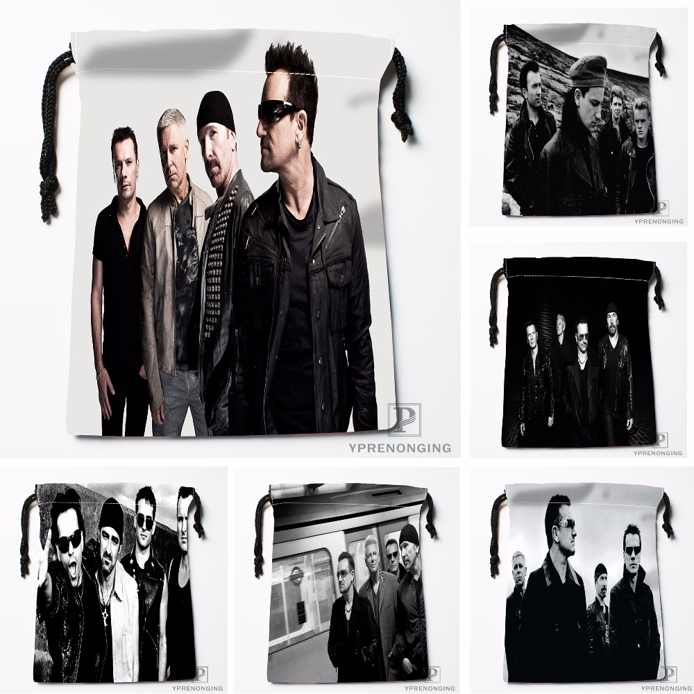 Custom U2 Drawstring Bags Travel Storage Mini Pouch Swim Hiking Toy Bag Size 18x22cm#0412-03-42