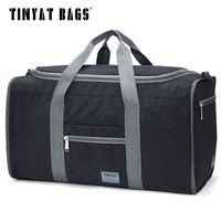 Tinyat Male Men Travel Bag Folding Gym Bag Outdoor Hiking Gym Bag Protable Molle Women Tote