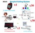 Беспроводной медсестра системный вызов колокол первая - устройства типа кнопки вызова медсестры кабель из светодиодов дисплей 4 часов пейджер 30 кнопка вызова 30 свет