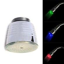 Новое поступление 2017 года Лидер продаж воды питание 3 вида цветов Ванна свет кран Температурный датчик RGB Душ