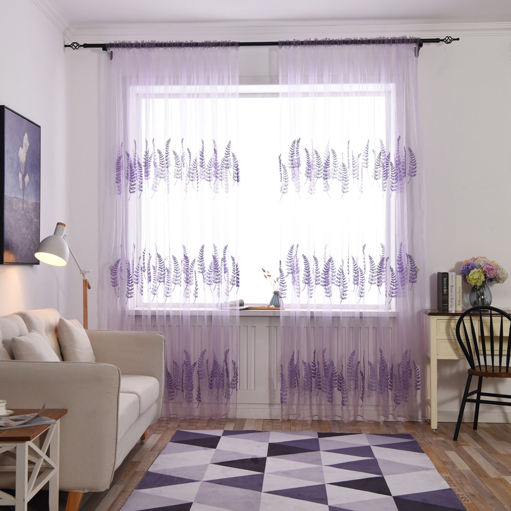 Fundecor] purple lavender Wall Stickers home decor living room ...