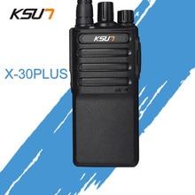 Бесплатная доставка новый KSUN X-30PLUS Портативный радио портативной рации 5 W 16CH UHF двухстороннее радиофон трансивер мобильных