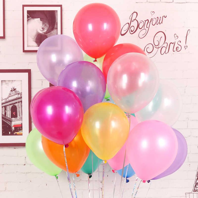 10 cái bong bóng sinh nhật 10 inch 1.5 gam Latex Helium bóng Dày Ngọc Trai đảng bóng Đảng Bóng kid đồ chơi trẻ em ballons cưới
