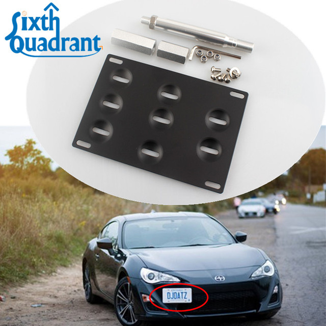 Scion Frs Parts >> Auto Parts Front Bumper Tow Hook License Plate Mounting Bracket Kit