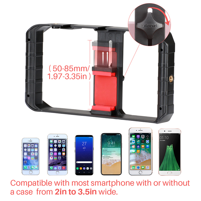 Ulanzi U-Rig Pro Smartphone Video Rig w 3 Shoe Mounts Filmmaking Case Handheld Phone Video Stabilizer Grip Tripod Mount Stand 4