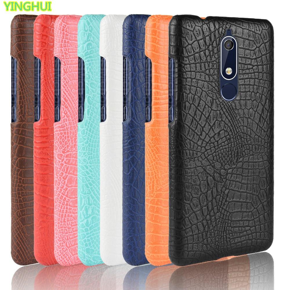Nokia 5.1 phone bag case Nokia 5 2018 Luxury Crocodile Skin PU leather Case Cover Nokia 5.1 TA-1061 TA-1075 A-1076 TA-1081