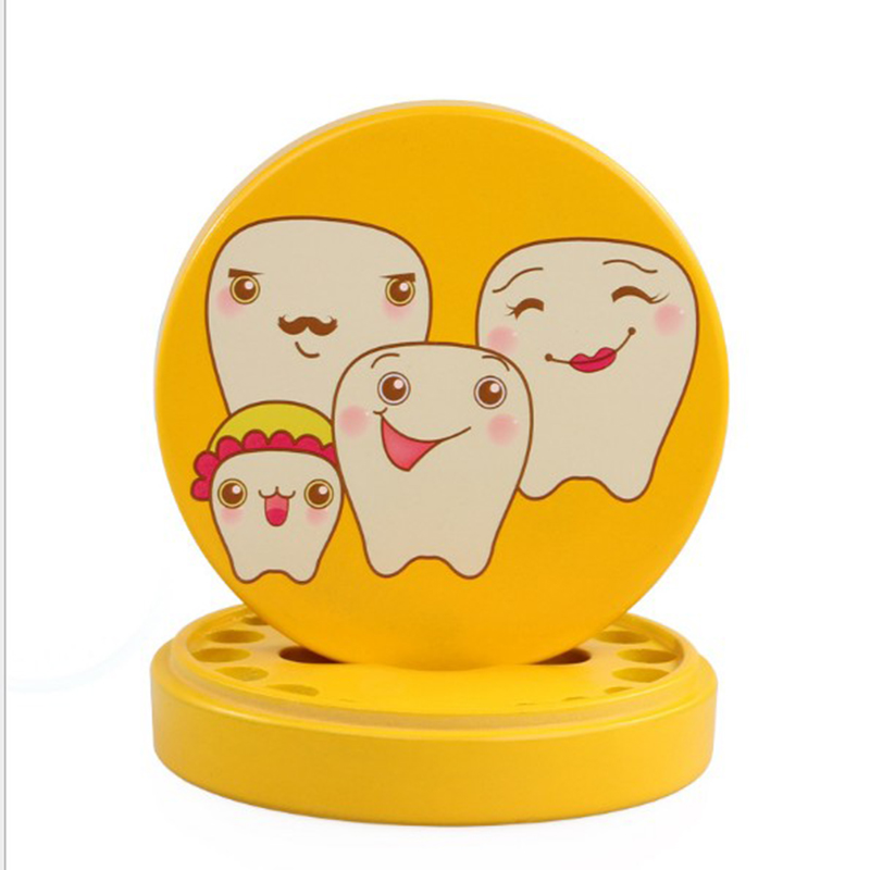 Baby's Hair Deciduous Tooth Preservation Box Wooden Tooth Happy New Baby Souvenir Gift Teeth Storage Case Wooden Teeth Box