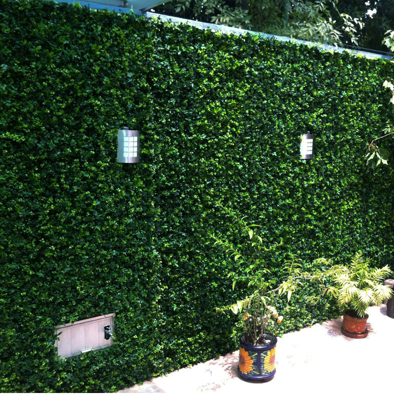 Outdoor Artificial Boxwood Hedge Fence for the Garden 10x10 UV Proof Plastic Plant Ivy Grass Mats Wedding Christmas Decoration