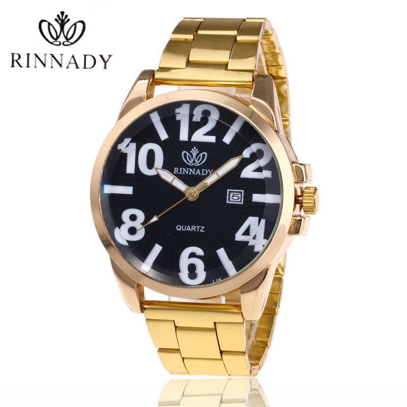 2018 Men Watches Top Brand Luxury Full Steel Calendar Clock Gold Casual Watch Men's Quartz Sports Wrist Watch Relogio Masculino halei lovers watches crystal inlaid full steel quartz watch women men simple casual wristwatches silver clock calendar relojes
