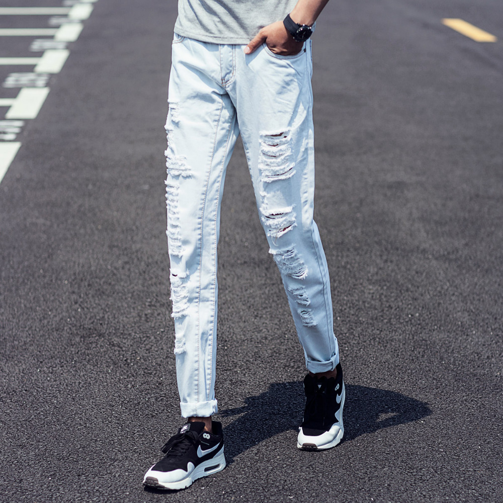 Popular Light Blue Skinny Jeans Men-Buy Cheap Light Blue Skinny - Light Blue Denim Jeans Mens Bbg Clothing