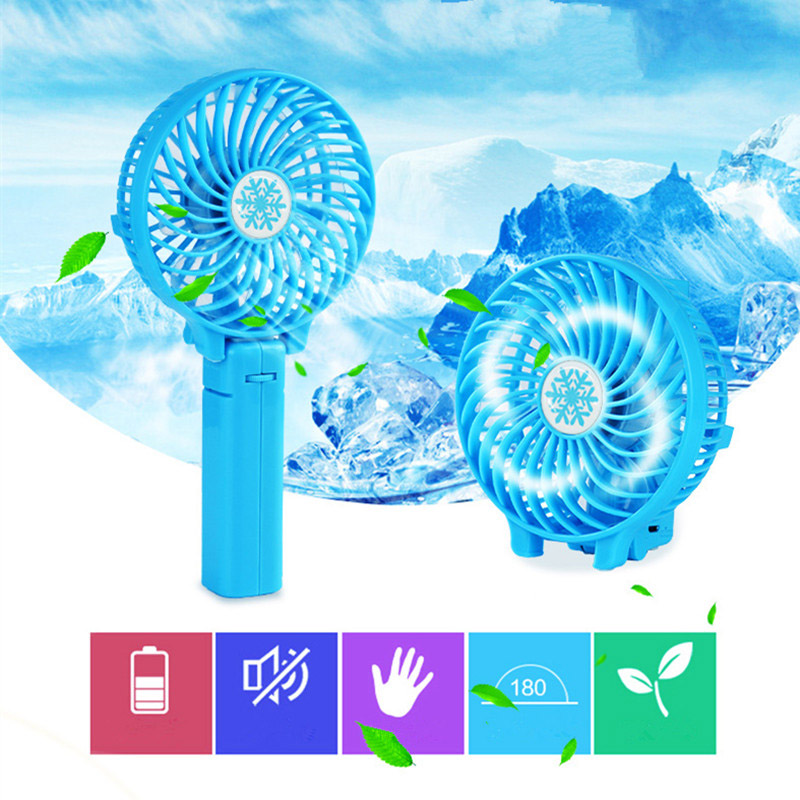 Mini Summer Fan Rechargeable font b USB b font Fan Foldable Multi speed Adjustable font b