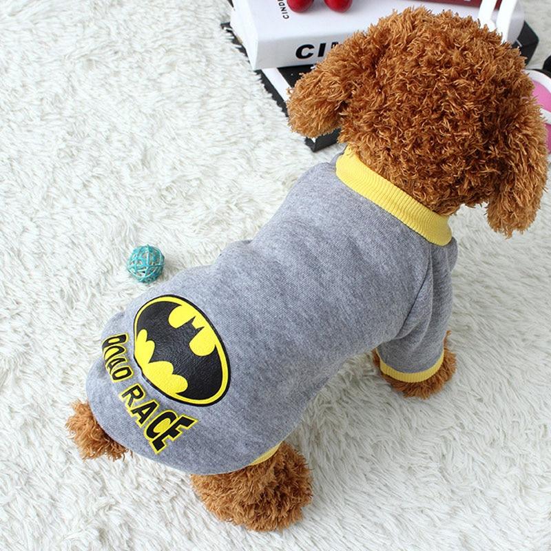 vmipet batman pet constume dog clothes for dogs cute superhero dog apparel puppy winter warm. Black Bedroom Furniture Sets. Home Design Ideas