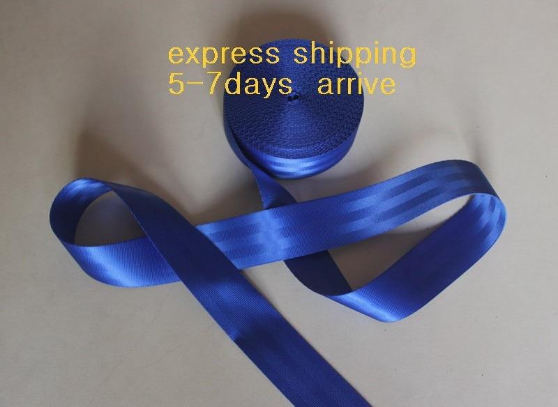 38 meters Roll Seat Belt Webbing Safety Strap DARK BLUE Color 4 8cm Wide 5 Bars