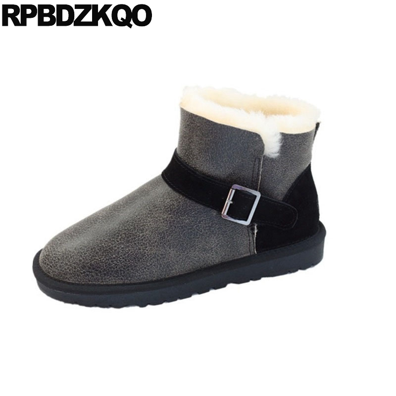 winter ankle big size snow men real fur boots suede shoes waterproof luxury plus booties sheepskin australian leather slip onwinter ankle big size snow men real fur boots suede shoes waterproof luxury plus booties sheepskin australian leather slip on