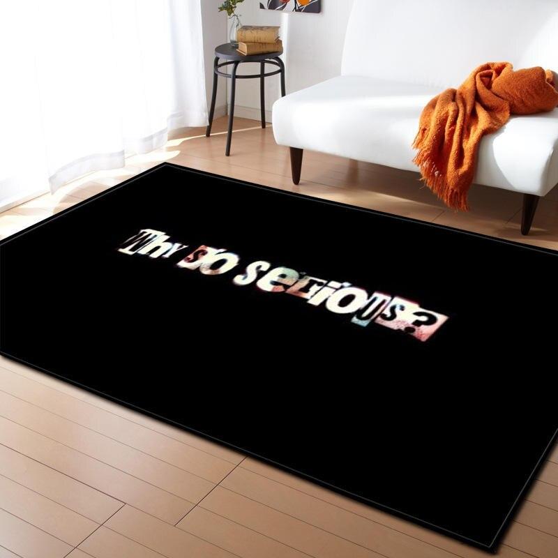 Moderne lettre impression tapis pour salon maison nordique tapis chambre chevet couverture zone tapis doux étude salle teppich tapis plancher - 3