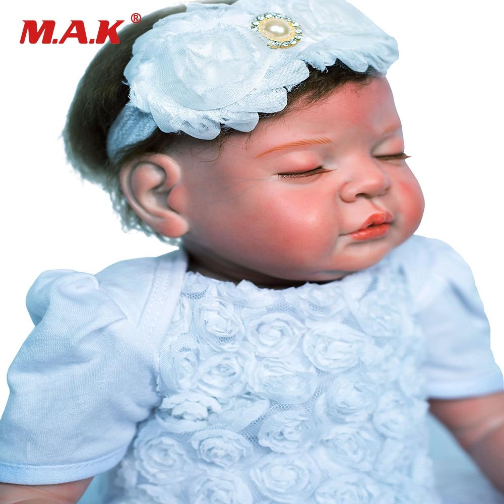 Fermé yeux Bebe Reborn poupée 20 pouces Silicone souple vinyle poupées Silicone souple Reborn bébé poupée nouveau-né réaliste Bebe Reborn poupée