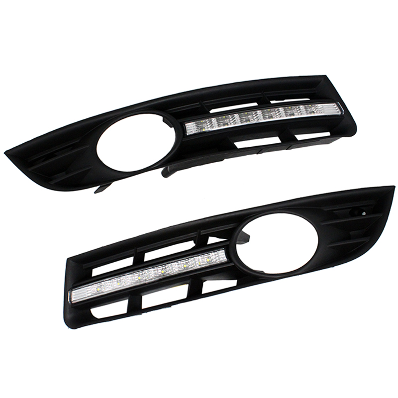 SUNKIA 2Pcs/Set DRL Car Daytime Running Light For VW Volkswagen Passat B6 2007 2008 2009 2010 2011 Fog Lamp Car Styling стоимость