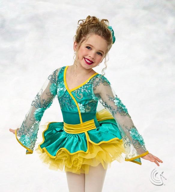 f7f75b2b7 100% original Curtain call kid girl cute dance dress costume-in ...