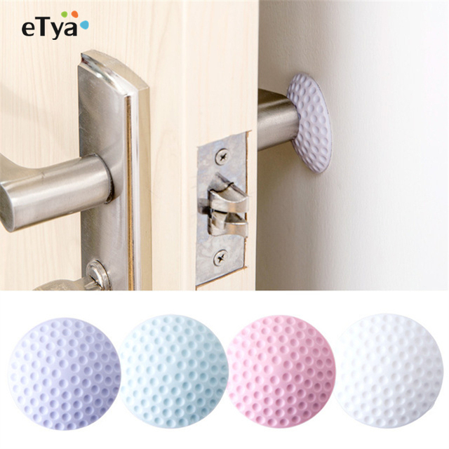 3pc Wall Thickening Mute Fenders Door Wall Stick Golf Modelling Rubber Fender Handle Door Lock Protective Pad Home Wall Stickers