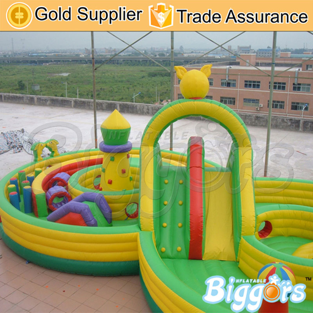 PVC Material Inflatable Obstacle Course Inflatable Playground Training For Game