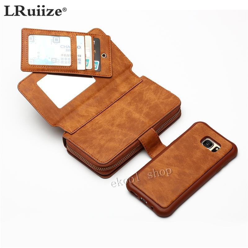 LRuiize Retro Multifunción Cartera Funda de cuero para teléfono - Accesorios y repuestos para celulares - foto 4