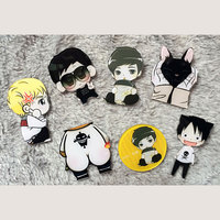 1 PC Cartoon Boys Acrylic Badge Boys Shaped Decoration Harajuku Pin Badges Backpack Brooches Cartoon Pins Brooch
