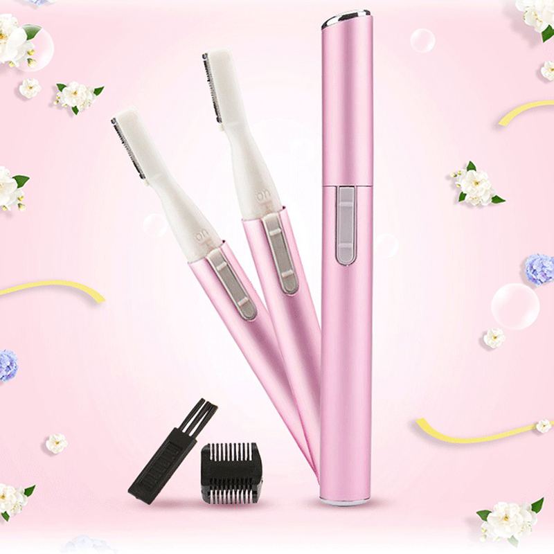 Mini Electric Eyebrow Trimmer Battery Personal Body & Face Beauty Tools Portable Lady Shaver Epilator Eyebrow Cutter lady electric eyebrow trimmer trimming knife more power beauty tools small pink fashion design does not hurt the skin