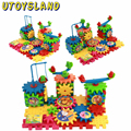 UTOYSLAND 81-Piece / set  Creative  Plastic Kids toys early education Electric Building Blocks Bricks Toys DIY Bloks Toy Set
