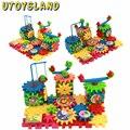UTOYSLAND 81-Piece/set Criativo Crianças brinquedos de Plástico Blocos Tijolos DIY Brinquedos Bloks Brinquedo cedo educação Elétrica Conjunto