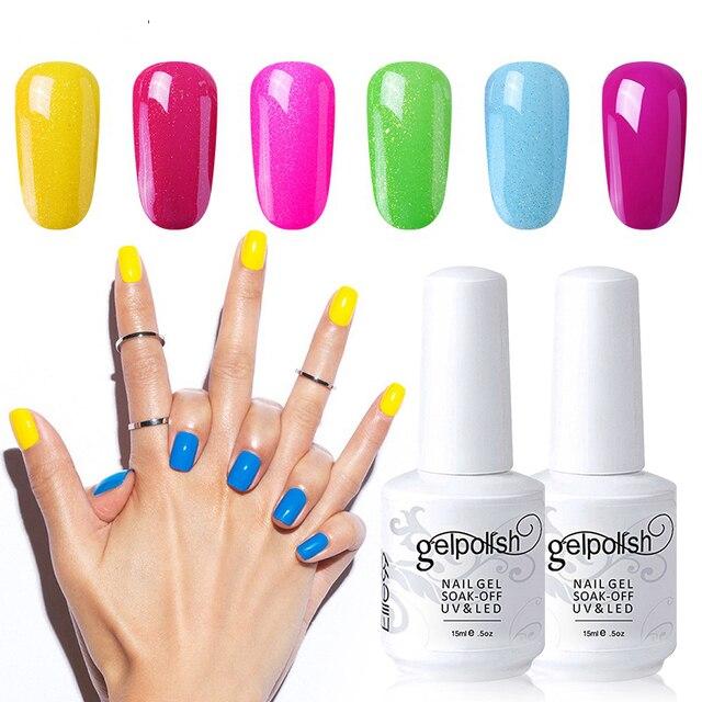 Elite99 15 ml Reine farben gel lack Semi Permanant UV Langlebige für nail art Gel nagellack Brauchen FÜHRTE lampe gel lack